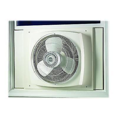 Electrically  Reversible Window Fan 16 Inch 3 Speed Exhaust Cooling Cooler White