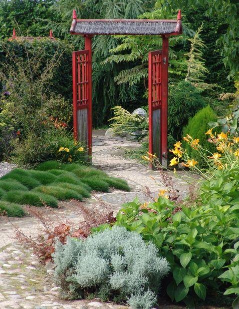 Drzwi - ogród japoński
