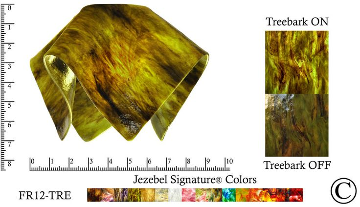 "Jezebel Signature® Small Flame Treebark Glass Pendant Replacement Glass Shade, 1 5/8"" hole"