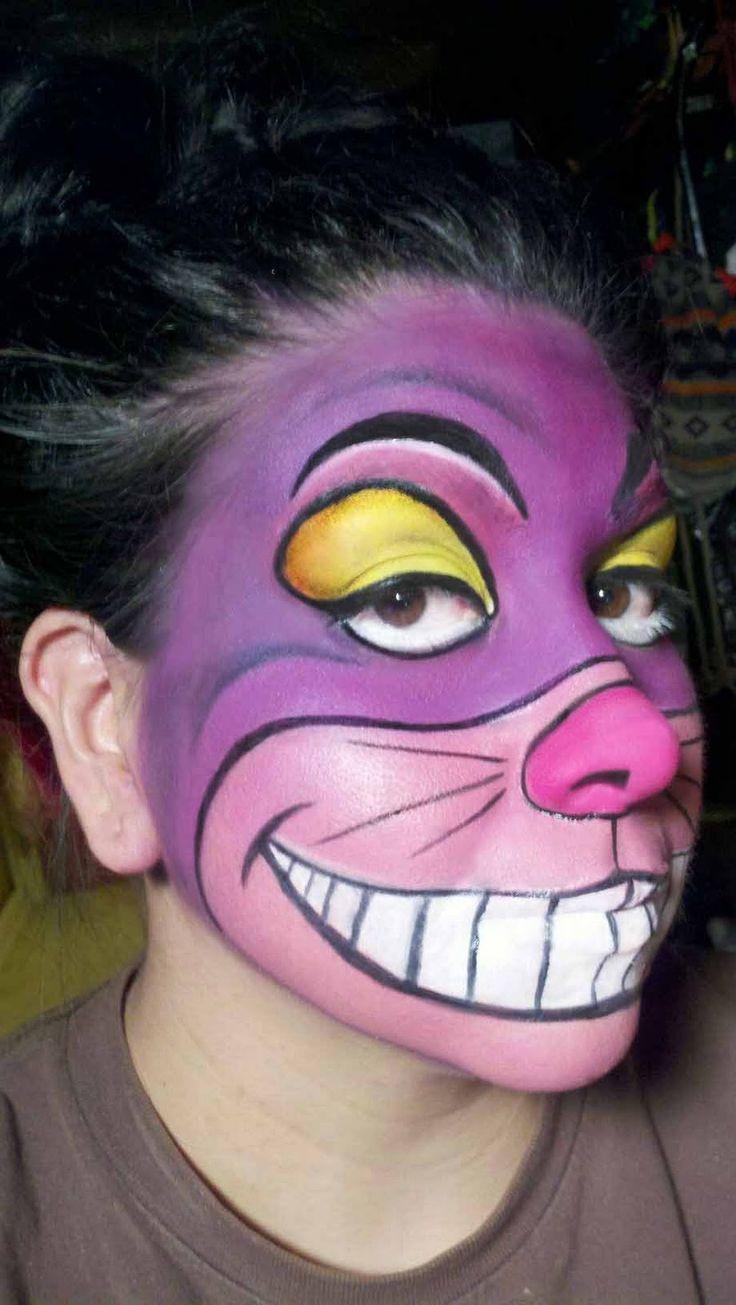 cat face paint - Alice in wonderland