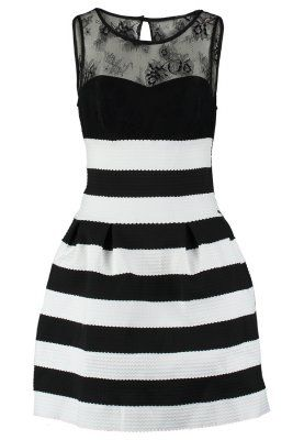 Guess MANOLA - Cocktail dress / Party dress - black/white striped - Zalando.co.uk