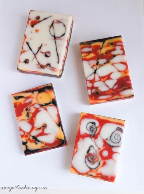soap technique - mokume gane