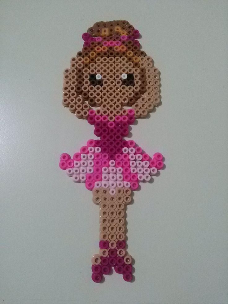 Perler Bead Ballerina by C1nnam0n on deviantART