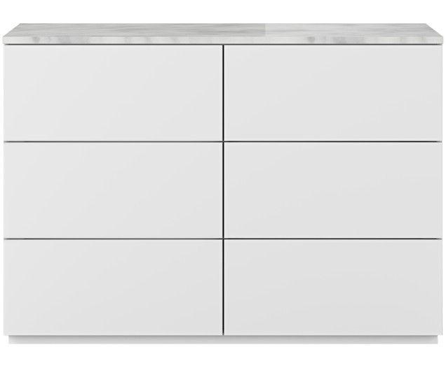 Schubladenkommode Join Mit Weiss Grauer Marmorplatte