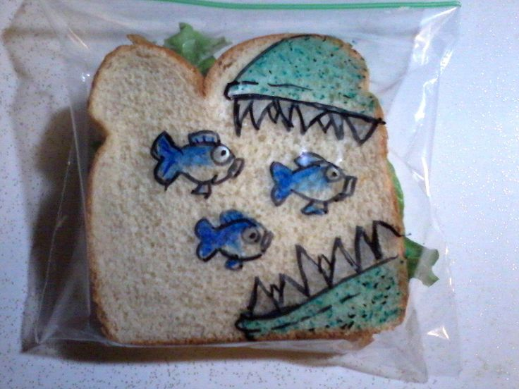 In 2008, David LaFerriere decided to surprise his kids at school, drawing on the sandwich bags he packed in their lunches.