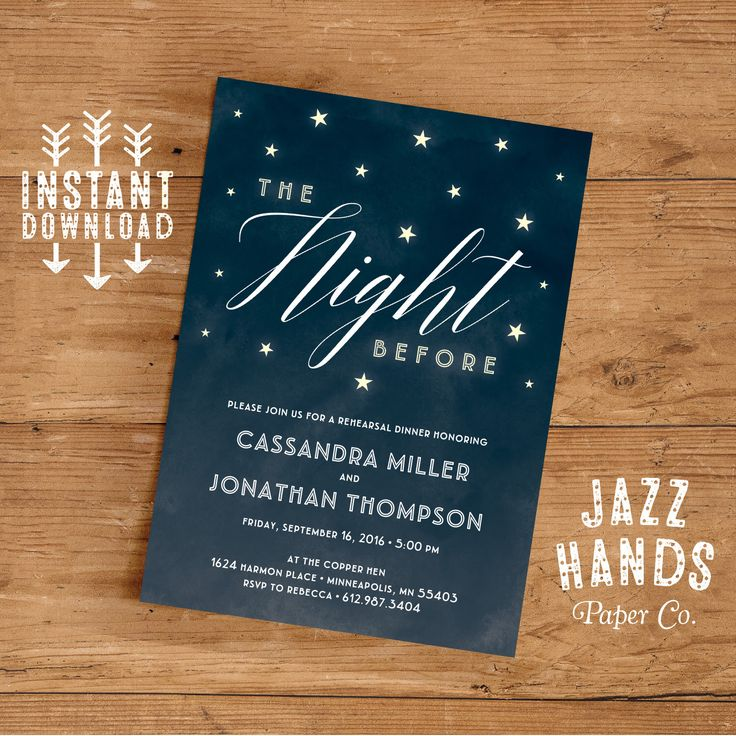 Rehearsal Dinner Invitation Template   DIY   Wedding Rehearsal Invitation   Rehearsal Dinner Invite   Rehearsal Dinner Party by JazzHandsPaperCo on Etsy https://www.etsy.com/listing/257304930/rehearsal-dinner-invitation-template-diy