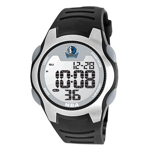 Game Time Men's NBA-TRC-DAL Dallas Mavericks Watch Game Time. $49.95. Solid 5-feature liquid crystal display (lcd) digital movement with easy set function-time (hour, minute, second), calendar (month, date, year), 1/100 chronograph stop watch, dual alarm, el backlight,. Limited lifetime warranty.. Durable mineral glass crystal protects watch from impact and scratches, and a. High quality synthetic leather polyurethane construction all purpose strap with solid stainless stee...