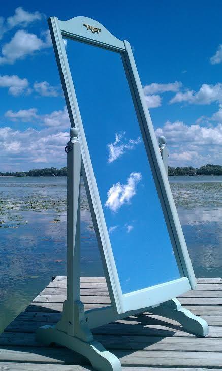 Vintage Mirror Standing Mirror Large Floor by ColoristicSensation