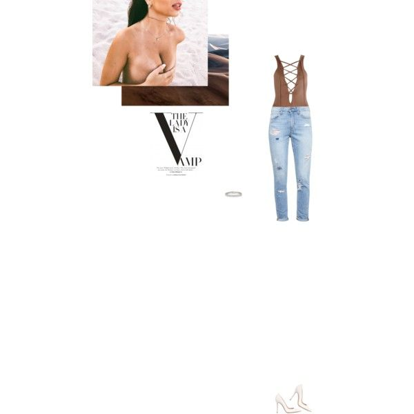 Bez tytułu #103 by izabelmaz on Polyvore featuring moda, Paige Denim, Gianvito Rossi and Kenneth Jay Lane