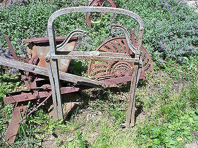 Antique Hay Trolley Harpoon Fork Farm Barn Primitive