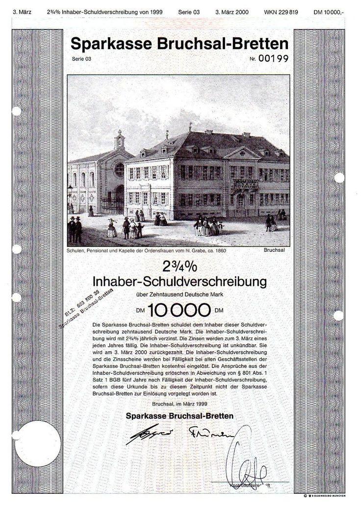 DM-Anleihe Sparkasse Bruchsal-Bretten 10000 DM 1999