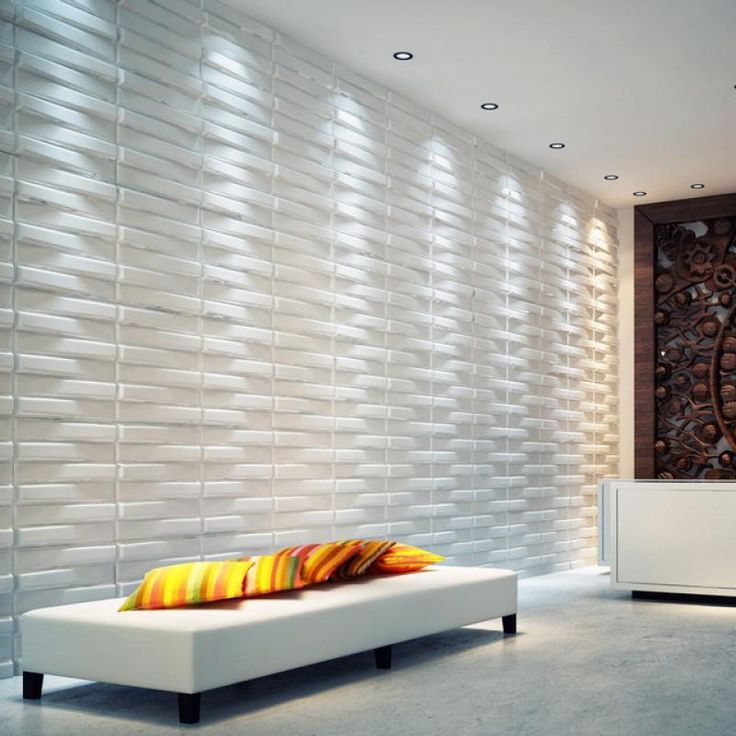 Wallpapers In Home Interiors: Contemporary 3d Wallpaper In Minimalist Modern House Wall