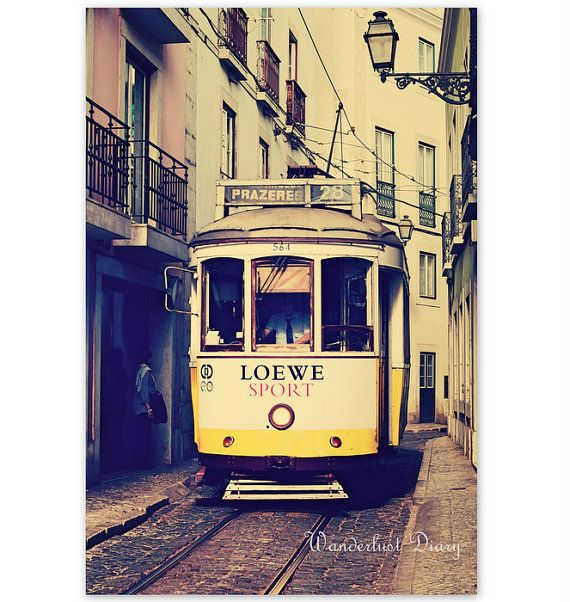 Lisbon, Portugal Streetcar Photography