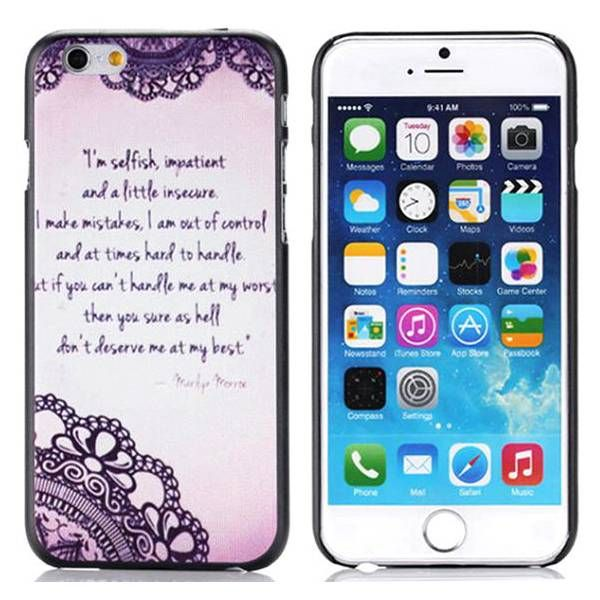 Quote elegant hardcase hoesje voor iPhone 6 Plus
