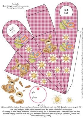481 best holidays easter templates printables images on easter icicle gift box pink on craftsuprint designed by di simpson negle