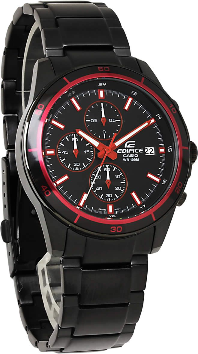 f8a16ec9c HAPIAN: Casio edifice watches mens CASIO EDIFICE chronograph EF-526BK-1A4  luminous calendar overseas model discount black red gift gift brand analog  watch ...