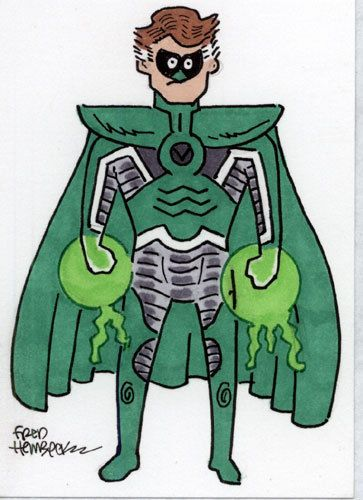 Fred Hembeck Color Sketch Card: Hal Jordan/Parallax (Green Lantern/DC) 1/1