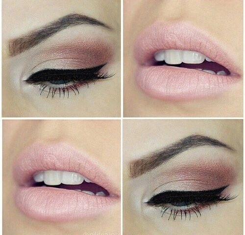 Make-up rose poudré, beauté, maquillage rose, mise en beauté, tendance make-up 2015