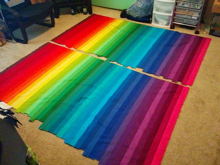 Rainbow Bargello - Jelly Roll Kona Roll Up Classic