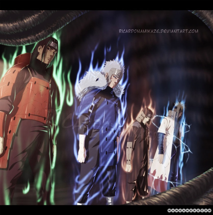 sasuke meet 4 hokage pictures