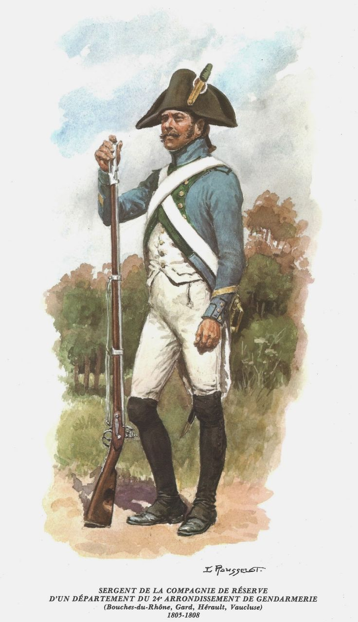 French; Sergeant of A Departmental Reserve of Police District 24. 1805-08