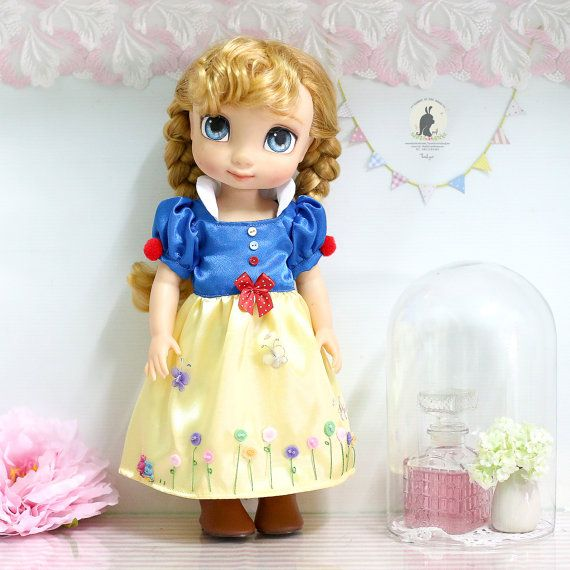 "Snow White dress .Doll clothes for Disney animator dolls 16""."