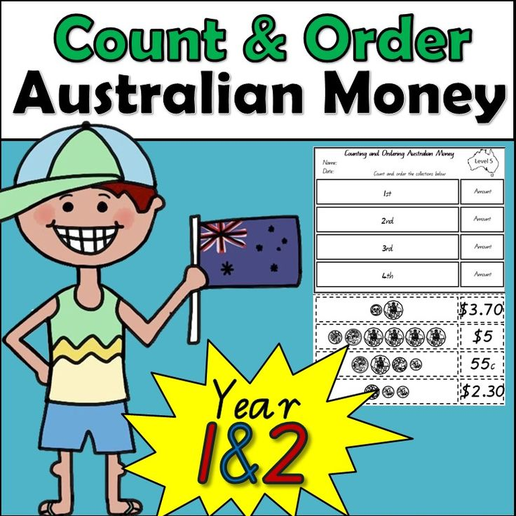 Counting and ordering Australian money is fun and easy with these worksheets. This product is designed to support and consolidate students knowledge of counting and ordering small collections of Australian coins according to their value.