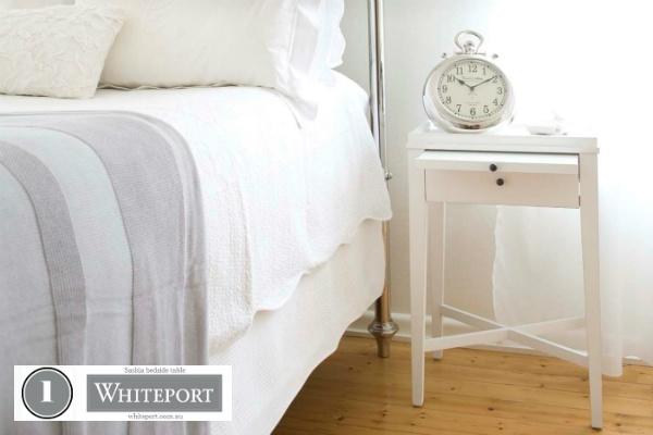 1. Saskia bedside table $449.95. 40. Bird cage room art $129.95 #WhiteportBingo: Win 1 of 3 Decals from #Whiteport by entering the competition at http://winarena.com.au. Every entrant gets a 20% off #voucher!