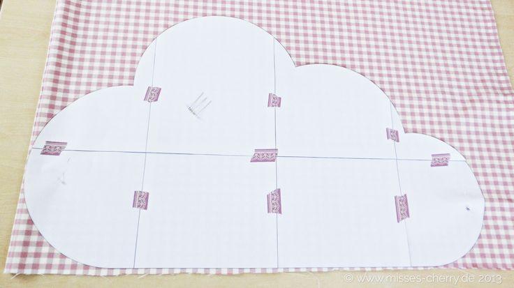 Wolkenkissen Freebook kostenlose Anleitung mit Schnittmuster