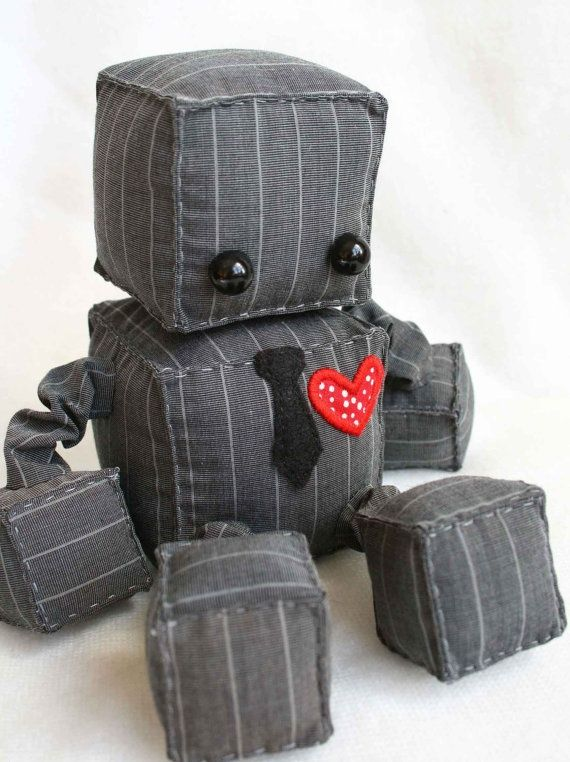 Insanely adorable plush robots (from etsy).