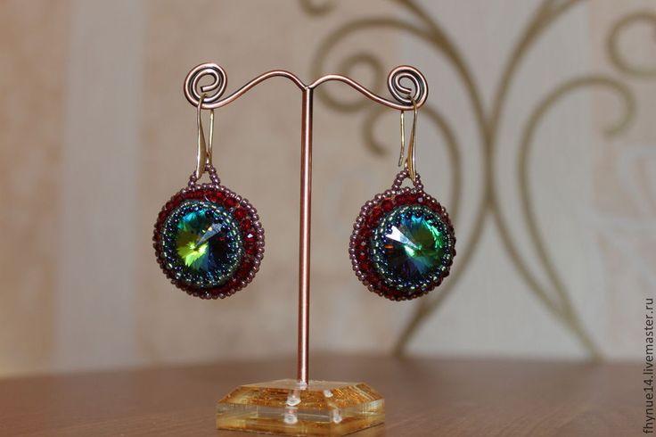 """серьги """"Магия цвета"""" - разноцветный,нарядное украшение,украшения ручной работы"""