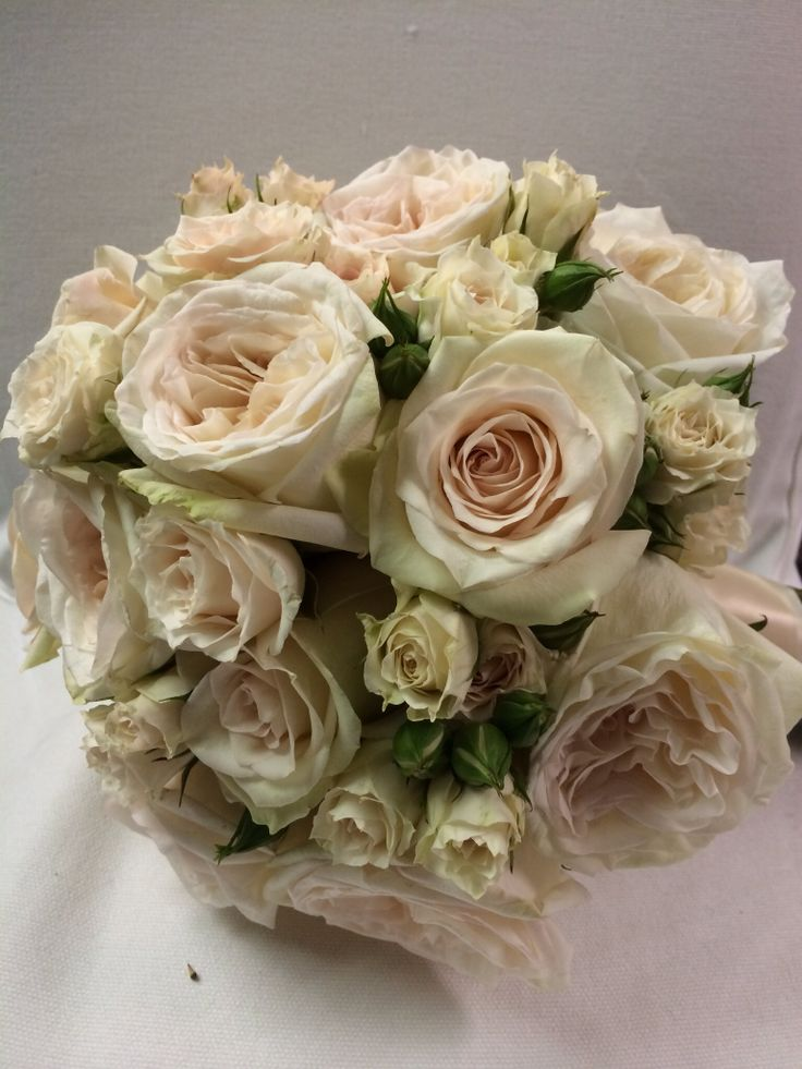 Garden Roses Blush And Bouquets On Pinterest