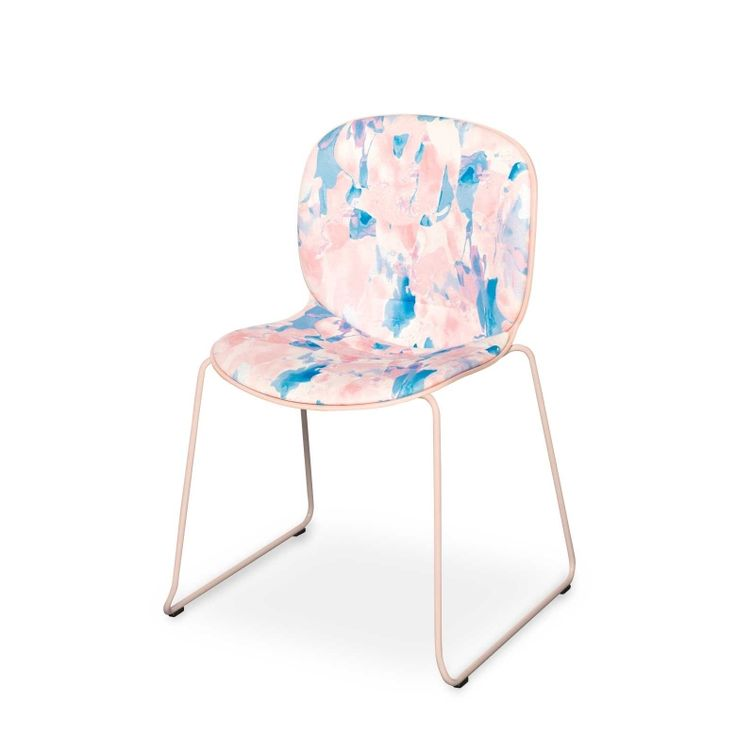 RBM Noor chair x NYE |Sledge by Anna Alanko | FEATHR™    Featuring NYE fabric. Initially sketched with acrylic paint, this rich and vibrant contemporary Scandinavian fabric design adds a unique burst of colour to the modern home.