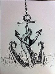 45354_10152294540515646_567961535_n (kquinn7892) Tags: art water tattoo pen design sketch legs anchor octopus