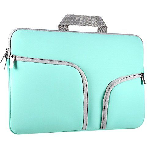 nice 11 - 11.6 inch Soft Laptop Tablet Sleeve , ivencase Case Cover with Handle and Zipper , Built-in 2 Pockets for Notebook Computer / MacBook / MacBook Air / Chromebook - Hot Teal