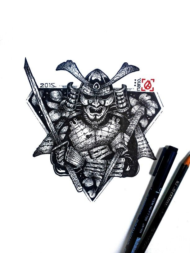 Done, full manual artwork samurai