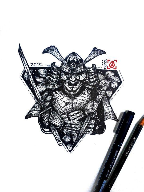 Done, full manual artwork samurai