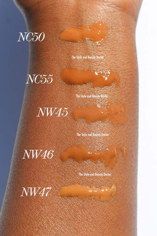 Mac Studio Fix Fluid Nc50 Nc55 Nw45 Nw46 Nw47 Swatches