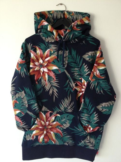 DELICIOUS tropical print hoodie