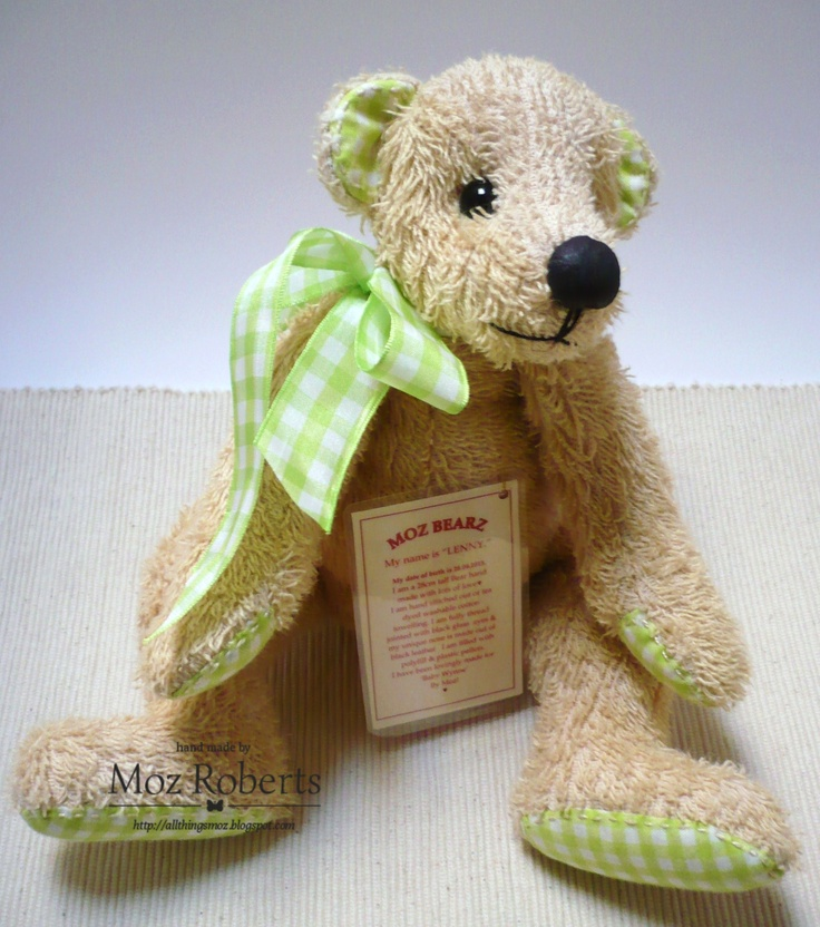 Lenny - all towelling, soft and cuddly. Made for a baby.