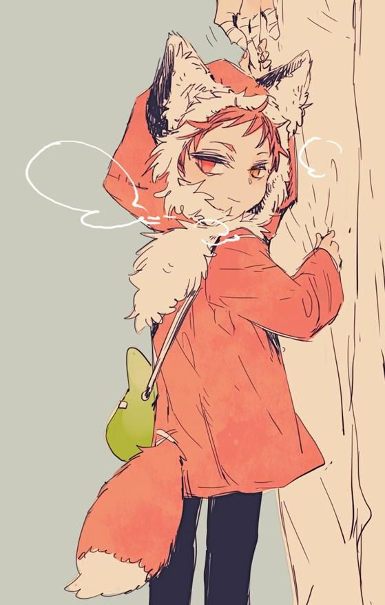 Midorima Shintarō x Akashi Seijūrō 緑間 真太郎 X 赤司征十郎 【綠赤】 例のきつねのコートのらくがき