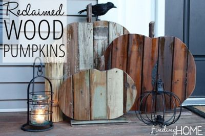 Reclaimed Wood Pumpkin Fall Decor