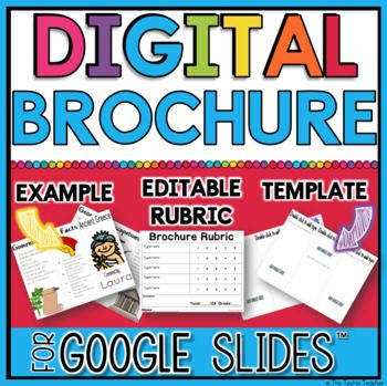 Get your students creating and working with information with this Digital Brochure in Google Slides™️.