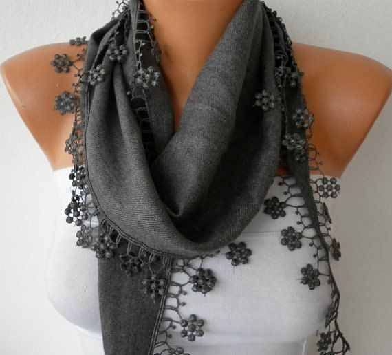 My Other NEW SCARVES, CROCHET and KNITTING Shop;  http://www.anils.etsy.com ------------------------------------------    ----- Without Lace  Lenght :