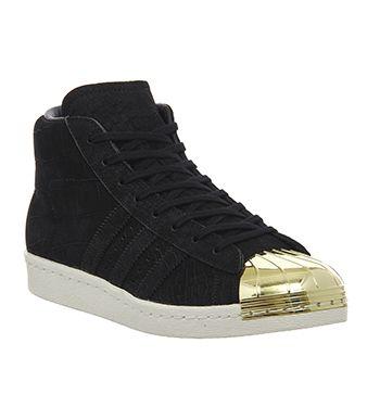 Adidas Pro Model Metal Toe Trainers Core Black Gold Metallic - Unisex Sports