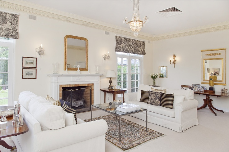 Lounge area of this stately home in one of Adelaide's most prestigious suburbs.