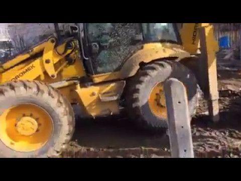 inşaatta ekskavatör kepçe ile kazı ve hafriyat işleri