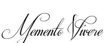 memento vivere - font