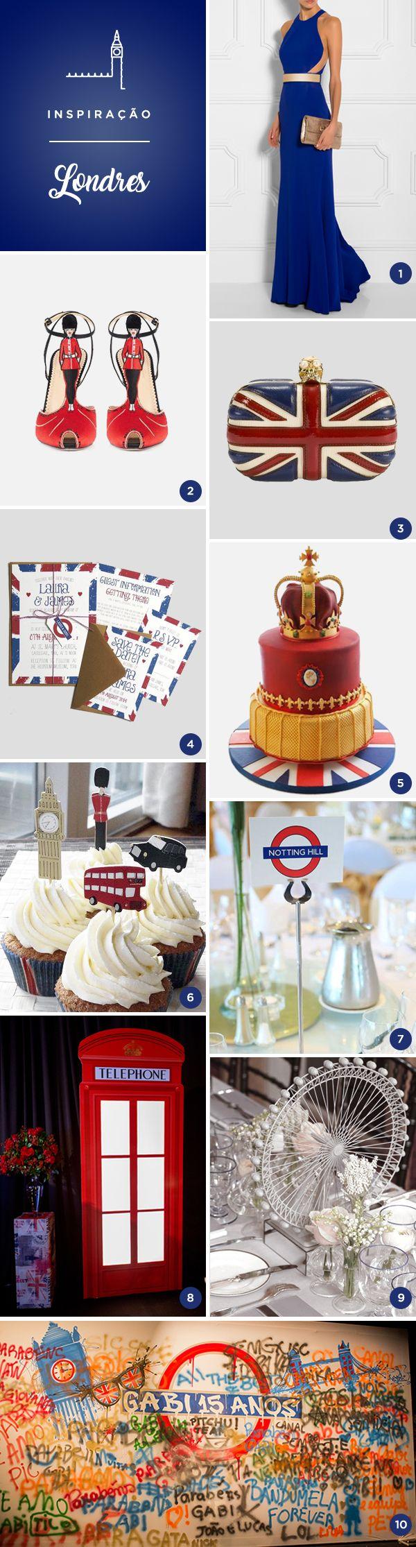 Que tal uma festa de 15 anos inspirada em Londres? Para quem gosta da ideia, reunimos 10 referências lindas, de bolo, convite, vestido, decoração...