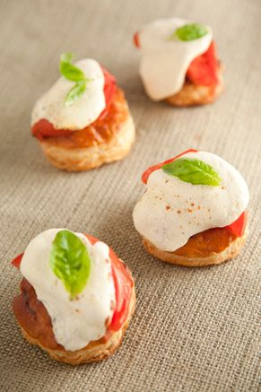 Paula Deen Tomato and Mozzarella Tarts